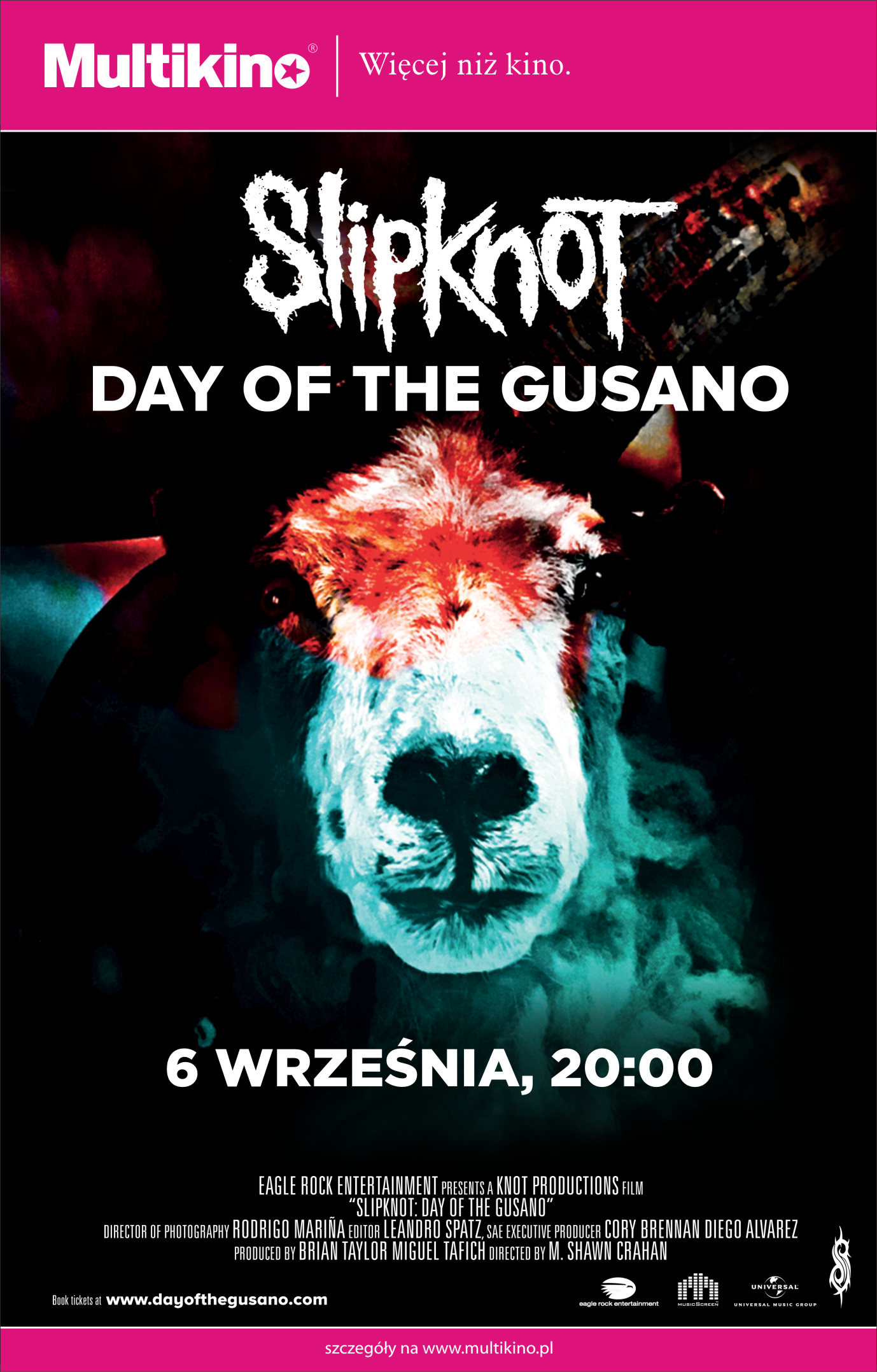 Bilety na: Slipknot: Day of The Gusano